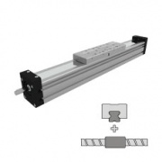 Linear guides with a precision ball screw drive